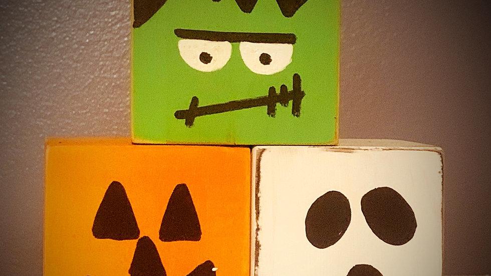 Hand painted Halloween Blocks/Halloween Decor
