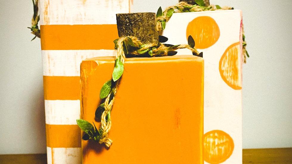 Rustic Wood Pumpkins Set (3)