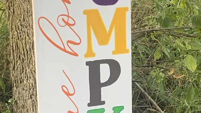 Welcome Home Pumpkin/Fall Themed Porch Sign/Fall Decor