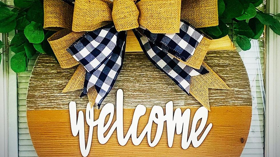 """18"""" Welcome Wooden Door Hanger"""