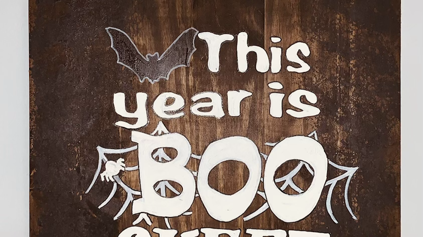 This year is BOO sheet, Funny Halloween Sign, Halloween Decor