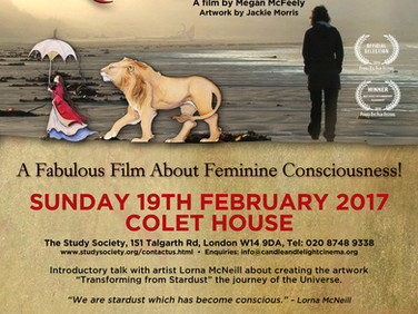 Inspirational film and Transforming from Stardust talk 19th Feb 2017 7.30pm
