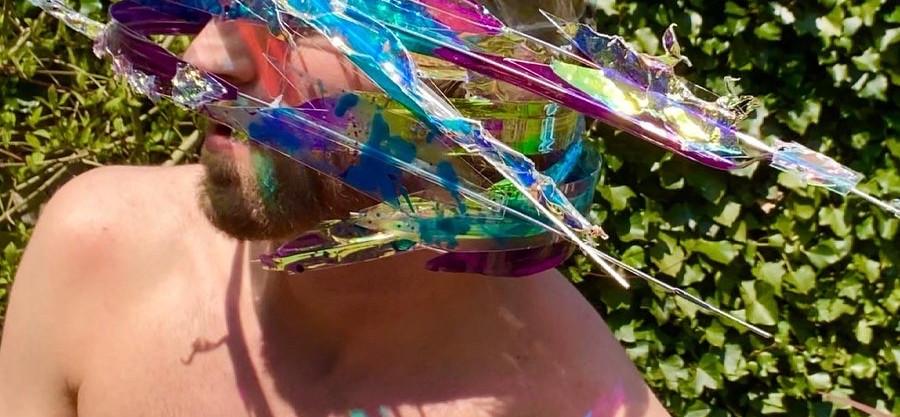 Luke Brown wearing the Wind Performative Light headress