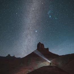 Moab, Utah stars at night