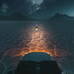 Bonneville Salt Flats at Night