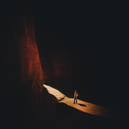 Brady Skye in a Utah Canyon. Photo by Justin Wirtalla.