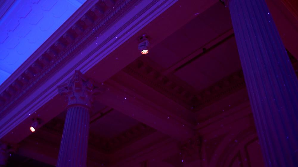 Treasury on the Plaza Wedding Reception Lights