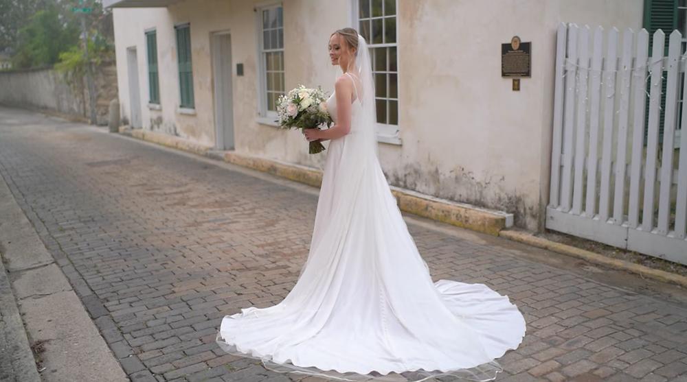 St Augustine Wedding Bride in Wedding Dress