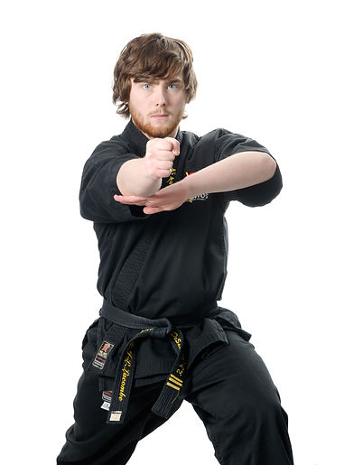 Man performing martial arts