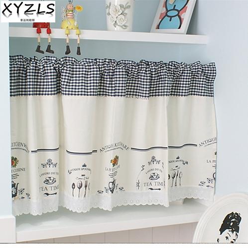 XYZLS Modern Elegant Minimalist Blinds Kitchen Curtain Cafe Half-curtain Short