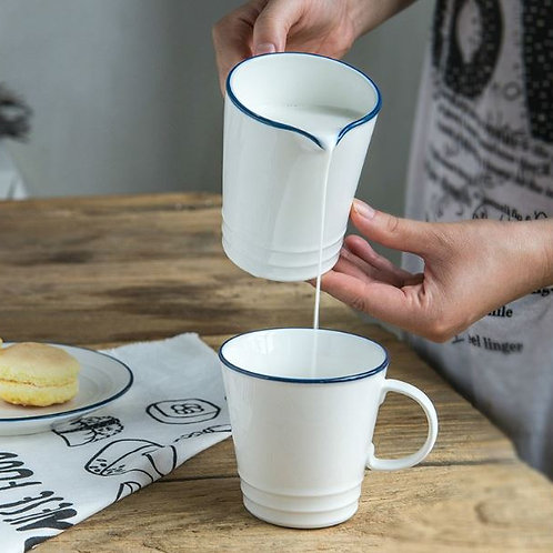 Ceramic milk jug western sauce pot coffee pull flower pot honey milk pot pot hou