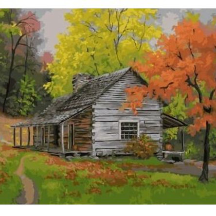 Barn in Autumn Oil Painting By Numbers Cuadros Decoracion Acrylic Paint On Canva