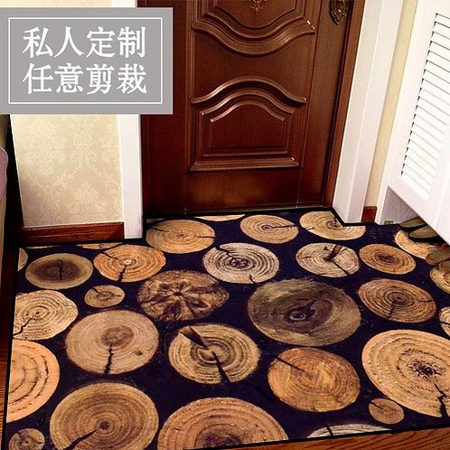 Rural Style HUAMAO Antique Wood Tree Door mats Slip-resistant Kitchen Floor Mat