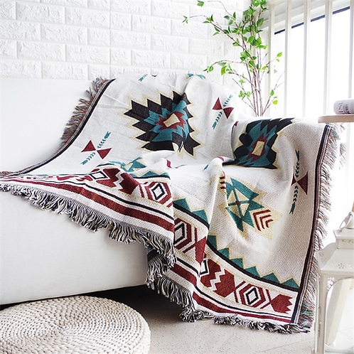 European Geometry Throw Blanket Sofa Decorative Slipcover Cobertor on Sofa/Beds