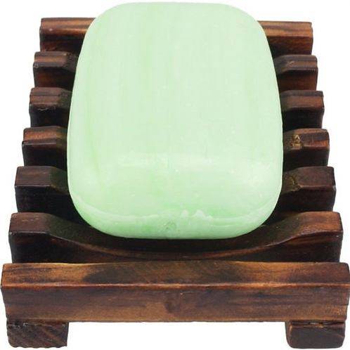 1PC Natural Wood Wooden Soap Dish Storage Tray Holder Bath Shower Plate Bathroom
