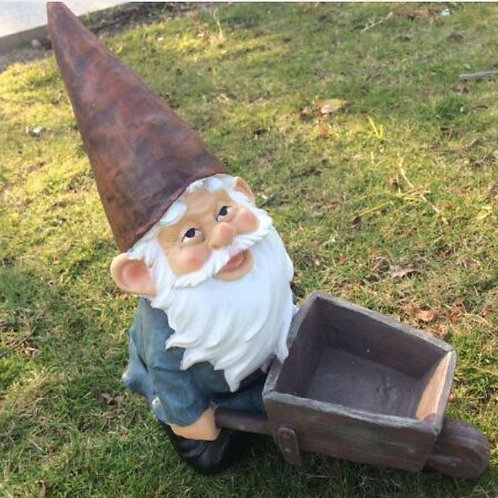 High-30cm,American Country Elf Dwarf Cart Home Farm Decoration Micro Landscape G