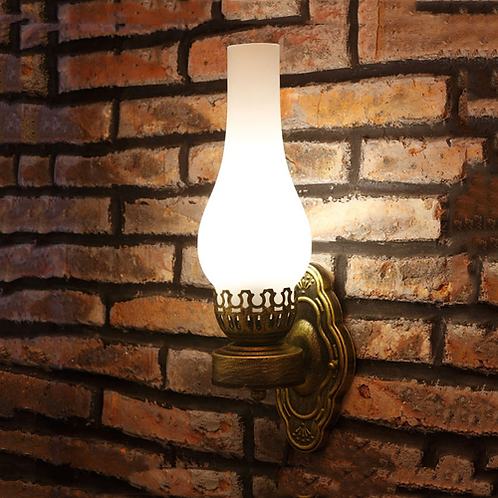 Chinese wall lamp vintage oil wall light bar corridor pub bedroom porch lamp