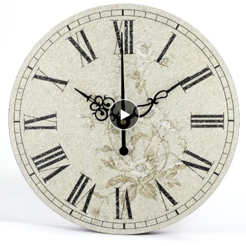 Farmhouse art decor flower style large decorative wall clocks balcony and courty