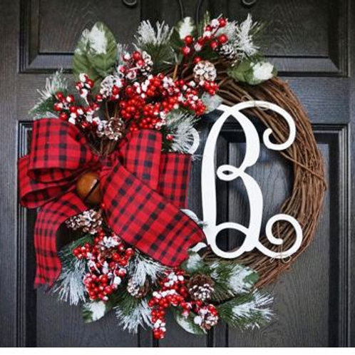 12inch American simulation Christmas Berry wreath Wall hanging Garland Front Doo
