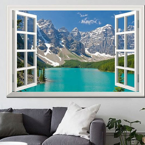 Landscape Canvas Printings Wall Art Picture Forest Scenery Outside the Window Ho
