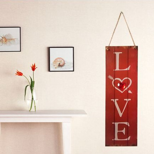 1pcs Love Valentines Day Wood Creative Hanging Drop Festival Hanging Drop