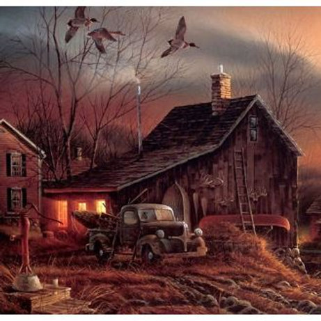 classical animal bird farm house scenery oil painting canvas prints printed on c