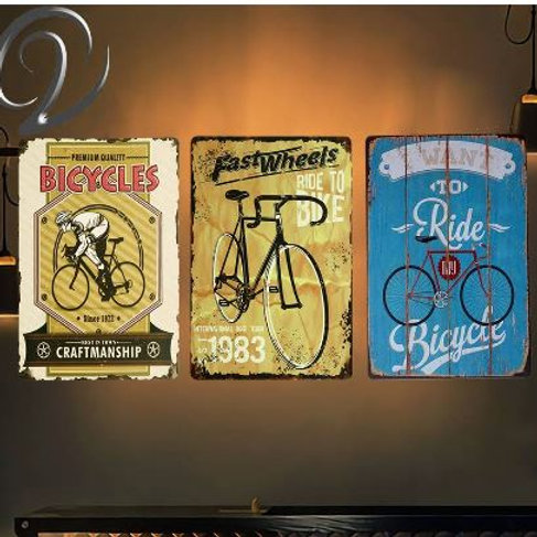 Ride my Bicycle Vintage Home Decor 20*30 cm Metal Sign Crafts Shabby Chic Tin Si