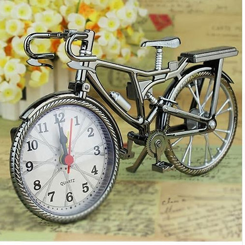 Home Garden New Vintage Arabic Numeral Bicycle Shape Creative Table Alarm Clock