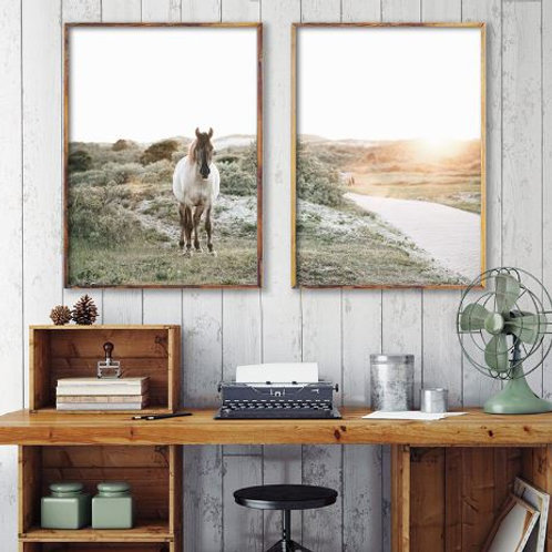 Farm Horse Photography Canvas Art Prints And Poster Country Landscape Art Canvas