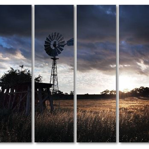 4 piece canvas landscape windmill farm posters and prints wall decorations canva