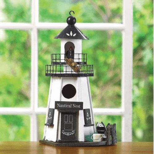 Nautical Nest Lighthouse Bird House