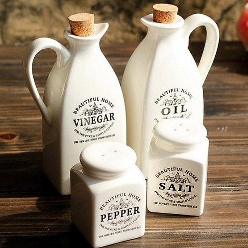 Oil Bottle 4PCS/LOT seasoning bottle cafe restaurant kitchen Food box furnishing