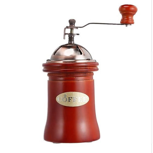 Wooden Manual Coffee Grinder Hand Grinding Machine Retro Coffee Spice Bean Mill