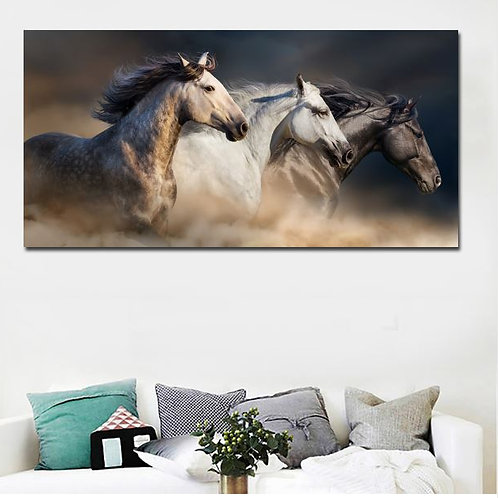 Horse Art Landscape Canvas Painting Modern Animal Poster Wall Art Posters And Pr