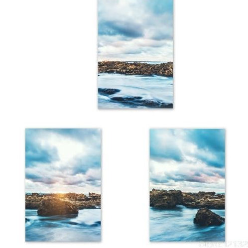 3PCS Sea Art Canvas Poster and Print Canvas Painting Decorative Picture for Livi