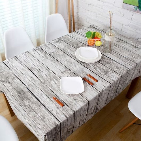 Wood Grain fabric Table Cloth Rustic Tablecloth linen coffee tablecloths wedding