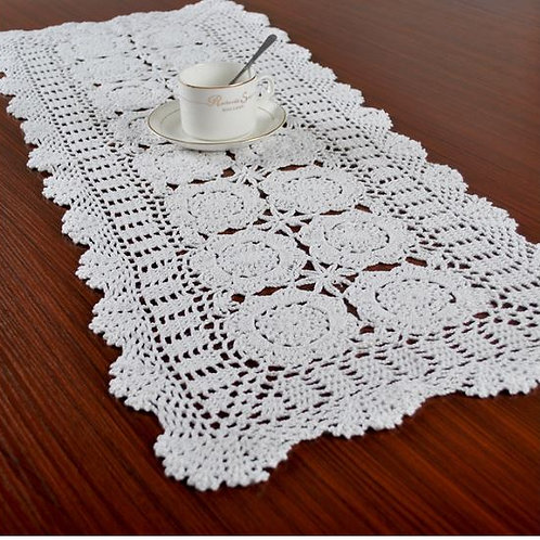 Table Runners For Wedding Party Decoration Cotton Crochet Lace Runner Mats Dini