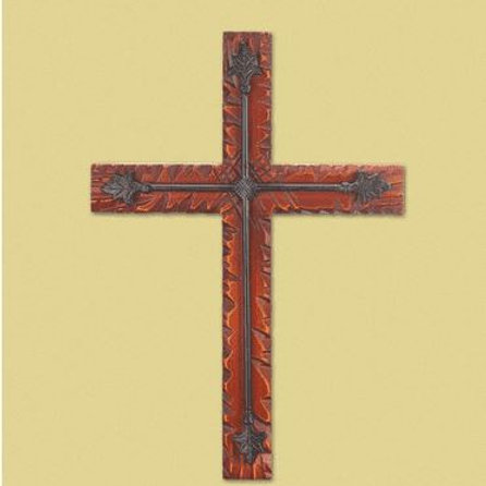 Wood Iron Wall Cross