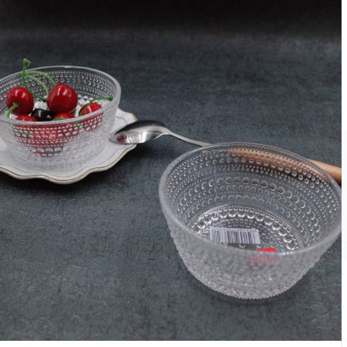 Simple moments Creative water droplets bowl glass food container salad bowl suga