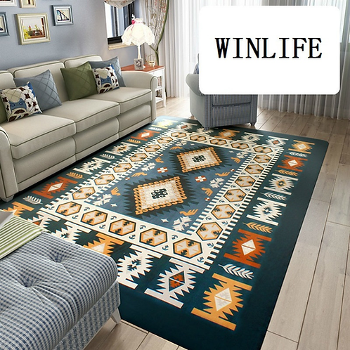 WINLIFE Mediterranean/North European Style Carpets Coral Fleece Floor Rugs