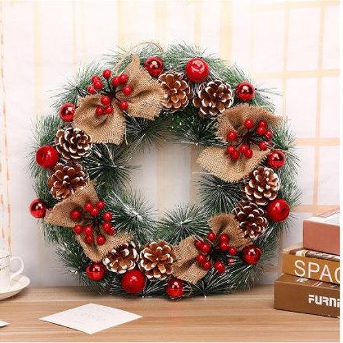 Christmas Wreath Handmade Rattan Pendant