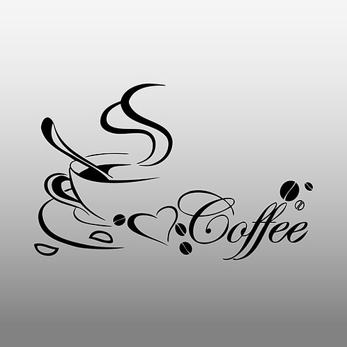 Free shipping wall stickers Coffee cup , Vinyl coffee wall art decals home