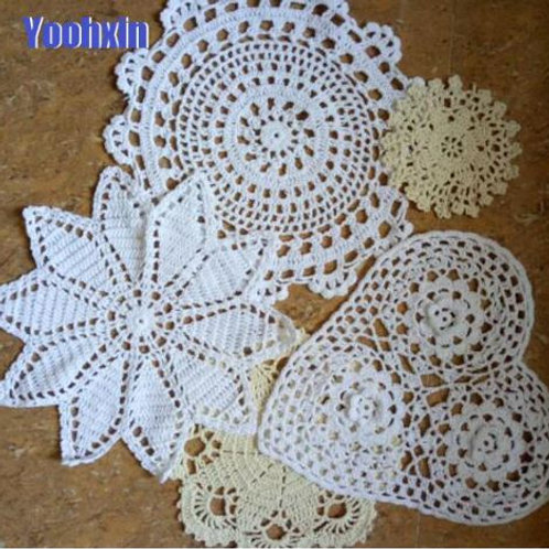 HOT lace cotton placemat cup coaster mug kitchen Christmas dish pan table place