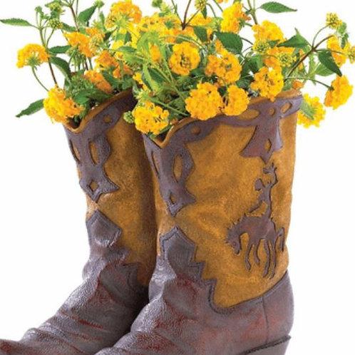 Cowboy Boots Planter