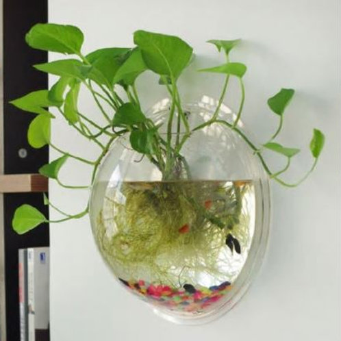 Garden Supplies Home Hanging Glass Ball Vase Flower Planter Pots Terrarium Conta