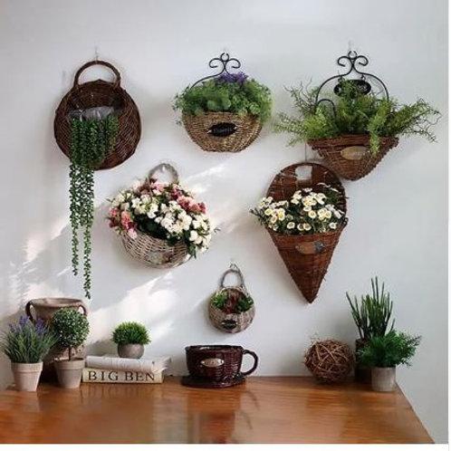 Durable Wall Hanging Flower Basket plant hanger flower /pot hanger for wall deco