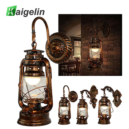 Kaigelin Wall Sconces Vintage Wall Lamp E27 LED Bulb Loft Retro Wall Luminaire