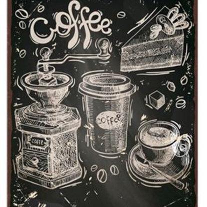 Shabby Chic Coffee Vintage Metal Tin Signs Wall Art Plate Plaque Custom Metal Po