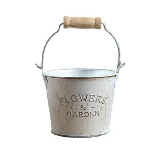 Desktop Garden Pastoral Style Flower Bucket Vase Countryside Vintage Decoration