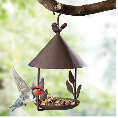 Iron Bird Feeder Hanging Wild Bird feeder Food craft garden house decoration Vin